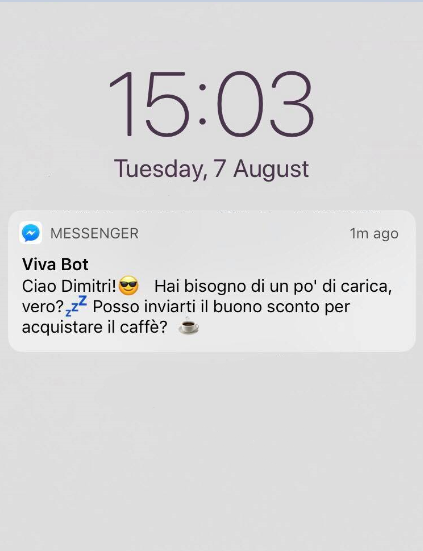 interazione chat bot mobile