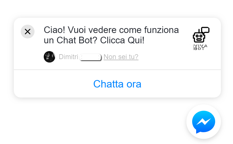 interazioni chat bot messenger